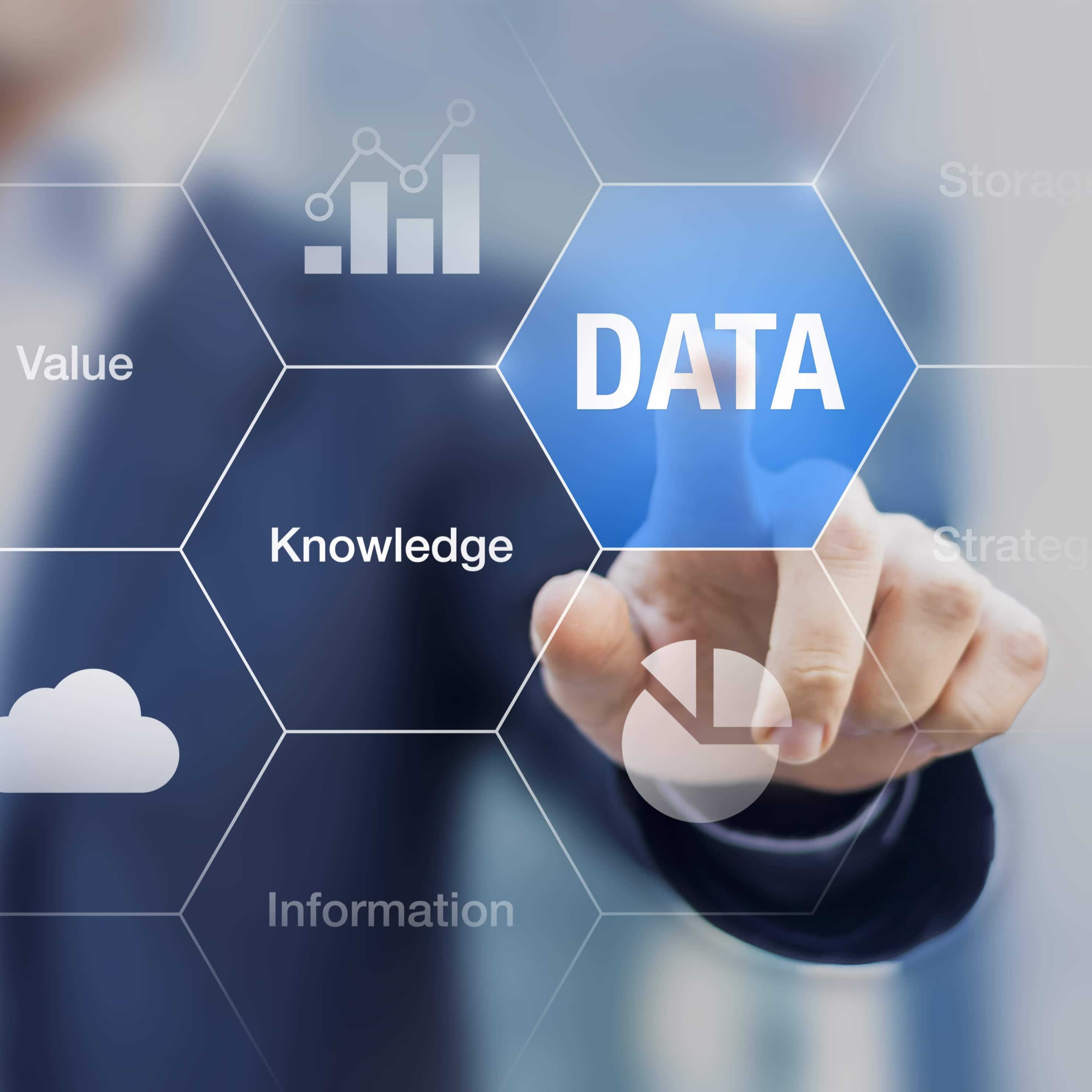 What are data, information, and knowledge.
